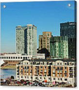 Harbor East Complex In Baltimore From Federal Hill Acrylic Print