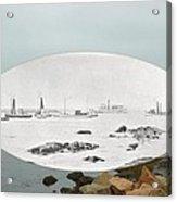 Harbor Entrance At Sakonnet Point In Little Compton Ri Acrylic Print