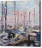Harbor In Early Morning Acrylic Print