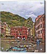 Harbor In Vernazza Acrylic Print