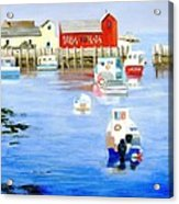 Harbor Scene Acrylic Print