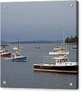 Harbor Scene I - Maine Acrylic Print
