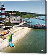 Harbor Town Beach 3 In Hilton Head Acrylic Print