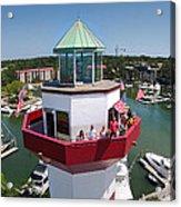 Harbor Town Lighthouse In Hilton Head Acrylic Print