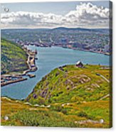 Harbour View From Signal Hill National Historic Site In Saint John's-nl Acrylic Print