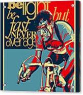 Hard As Nails Vintage Cycling Poster Acrylic Print by Sassan Filsoof