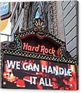 Hard Rock Cafe New York Acrylic Print