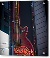 Hard Rock Guitar Nyc Acrylic Print