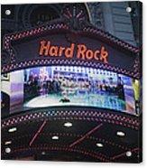 Hard Rock Marquee Nyc Acrylic Print