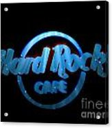 Hard Rock Neon In Space Acrylic Print