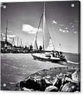 Hard Sailing Acrylic Print