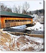 Hardwick Covered Bridge  Acrylic Print