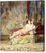 Harem Beauty Acrylic Print by Alexandre Louis Leloir