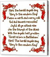 Hark The Herald Angels Sing Acrylic Print