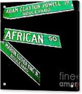 Harlem Crossroads Acrylic Print