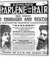 Harlene For The Hair, 1897 Acrylic Print