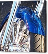 Harley Close-up Blue Flame  Acrylic Print