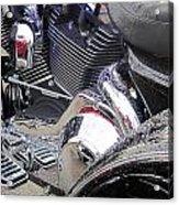 Harley Close-up Blue Lights Acrylic Print