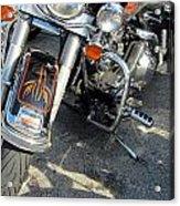 Harley Close-up W Shadow 1 Acrylic Print