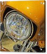 Harley Close-up Yellow 2 Acrylic Print