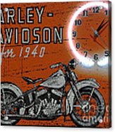 Harley Davidson 1940s Sign Acrylic Print