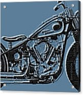Harley-davidson And Words Acrylic Print