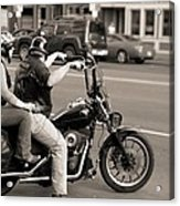 Harley Davidson Black And White Acrylic Print