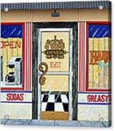 Harley Davidson Cafe Acrylic Print
