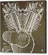 Harley Davidson Engine Acrylic Print by Dan Sproul