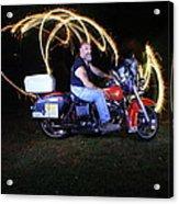 Harley Davidson Light Painting Acrylic Print