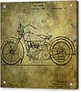 Harley Davidson Motorbike Patent  Acrylic Print