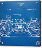 Harley-davidson Motorcycle 1919 Patent Artwork Acrylic Print by Nikki Marie Smith