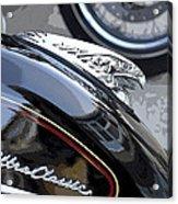 Harley Davidson Motorcycle American Eagle Fender Ornament Usa Acrylic Print