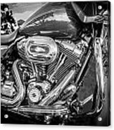 Harley Davidson Motorcycle Harley Bike Bw  Acrylic Print