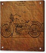 Harley Davidson Patent  Acrylic Print