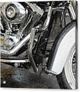 Harley Engine Close-up Rain 1 Acrylic Print