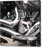 Harley Engine Close-up Rain 2 Acrylic Print