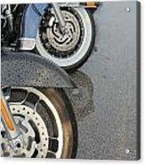 Harley Line Up Rain Acrylic Print