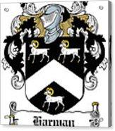 Harman Coat Of Arms Carlow Ireland Acrylic Print