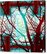 Harmonious Colors - Red White Turquoise Acrylic Print