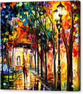 Harmony - Palette Knife Oil Painting On Canvas By Leonid Afremov Acrylic Print