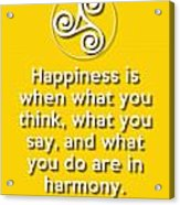 Harmony Yellow Acrylic Print