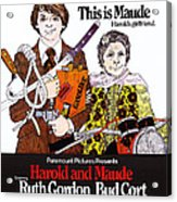 Harold And Maude, L-r Bud Cort, Ruth Acrylic Print