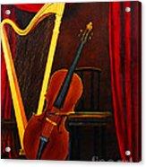 Harp And Cello Acrylic Print