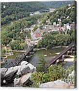 Harpers Ferry Viewed From Maryland Heights Acrylic Print