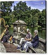 Harpist - Central Park Acrylic Print