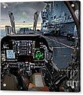 Harrier Cockpit Acrylic Print