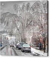 Harrisburg On Ice Acrylic Print