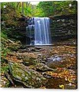 Harrison Wright Falls In Early Fall Acrylic Print