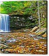 Harrison Wright Falls Panorama Acrylic Print